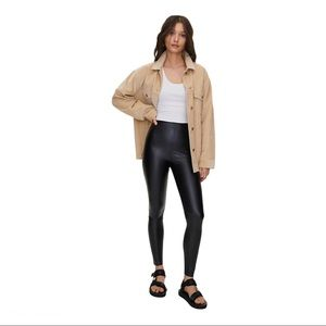 Wilfred Jenna High Waist Vegan Leather Leggings XS